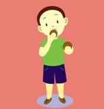 Kids Eating Cookies Stock Image