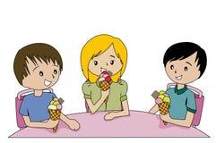 Kids Eating Ice Cream Royalty Free Stock Image