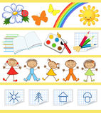 Kids education. Royalty Free Stock Images