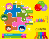 Kids education infographic Stock Photography