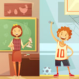 Kids Education 2 Vertical Cartoon  Banners Stock Photo
