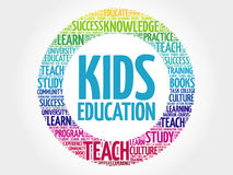 Kids Education word cloud stock photos