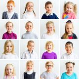Kids emotions collage. Collage showing different boys and girls emotions stock photography