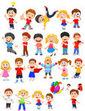Kids engaged in different expression. Illustration of Kids engaged in different expression Royalty Free Stock Image