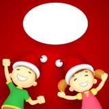 Kids enjoying Christmas Stock Images