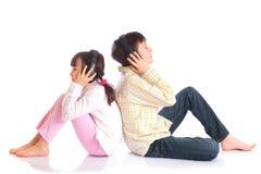 Kids enjoying music Royalty Free Stock Images