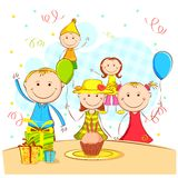 Kids Enjoying Party Stock Images