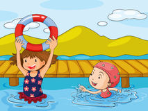 Kids enjoying the refreshing water Stock Images