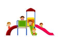 kids enjoying on slide Royalty Free Stock Image