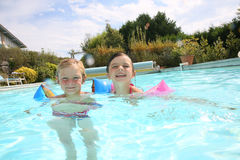 Kids enjoying swimming pool Royalty Free Stock Photography