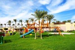 Kids entertaining area at luxury hotel. Sharm el Sheikh, Egypt Royalty Free Stock Photography
