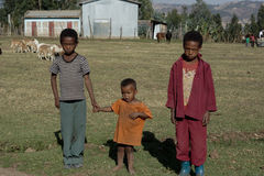 Kids in ethiopia Royalty Free Stock Photography