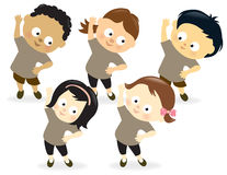 Kids exercising 2 Stock Image