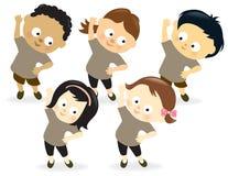 Kids exercising 2 Stock Image