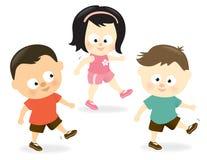 Kids exercising Royalty Free Stock Image