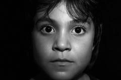 Kids Face. Cute hispanic young child Stock Photos