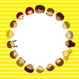 Kids face frame. Illustration Stock Photos