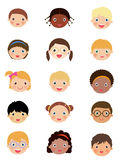 Kids face set Royalty Free Stock Photo