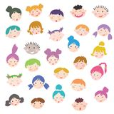 Kids faces Royalty Free Stock Photography