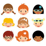 Kids faces Royalty Free Stock Photos
