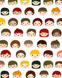 Kids faces background Royalty Free Stock Photo