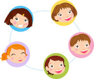 Kids faces set Royalty Free Stock Image