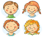 Kids faces Stock Photo