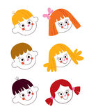 Kids faces set Royalty Free Stock Images