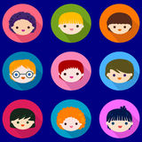 Kids faces set Royalty Free Stock Photo