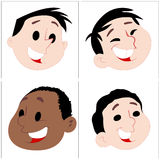 Kids Faces Vectors Stock Photography