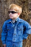 Kids fashion. Toddler model,fashion jeans Royalty Free Stock Photo