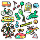 Kids Fashion Badges, Patches, Stickers Stock Image