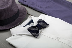 Kids fashion clothes,Men's outfit royalty free stock photography