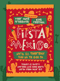 Kids Festival Template, Banner or Flyer design. Fiesta Mexico, Kids Fun Festival celebration concept, Creative colorful Template, Banner or Flyer design with Royalty Free Stock Photos