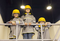 Kids - firefighters Royalty Free Stock Image