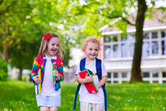Kids on first school day Stock Image