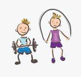 Kids Fitness Sports Royalty Free Stock Image