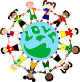 Kids Flag Shirts Love Globe Royalty Free Stock Images