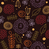 Kids flowers and details. Bitmap seamless pattern with an additional vector file