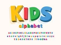 Kids font royalty free illustration