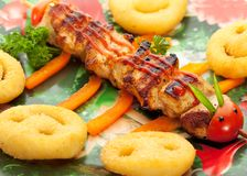 Kids Food - Chicken with Potato Stock Photography