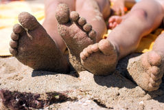 Kids foot Royalty Free Stock Photos
