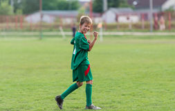 Kids football match Stock Images