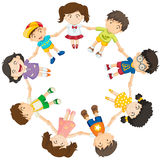 Kids forming a circle. Illustration of the kids forming a circle on a white background Royalty Free Stock Image