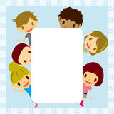 Kids frame. Abstract kids frame. Illustration Stock Photo