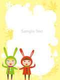 Kids frame. Vector illustration of children frame Stock Photos