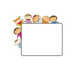 Kids frame Stock Image