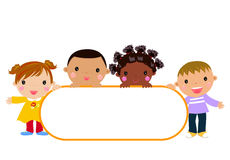 Kids and frame. Illustration of kids and frame Stock Photos