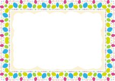 Kids Frame - Border with made from arrangement of balloons royalty free stock photos