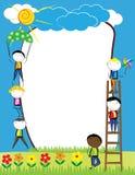 Kids frame Stock Photography